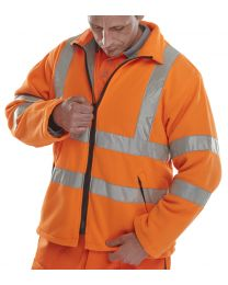 Orange Carnoustie Fleece Jacket