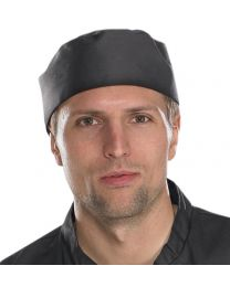Chefs Black Skull Cap