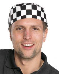 Black & White Chefs Skull Cap