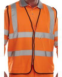 Orange Fire Retardant Hi-Vis Waistcoat