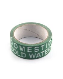 Domestic Cold Water Identification Tape