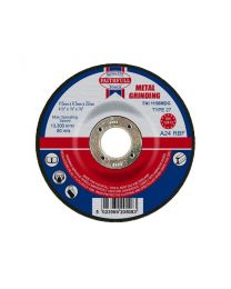 Metal Grinding Disc Depressed Centre 115 x 6.5 x 22mm 10 Pack