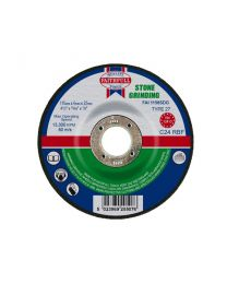 Stone Grinding Disc Depressed Centre 115 x 6 x 22mm 10 Pack