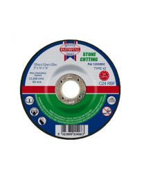 Stone Cutting Disc Depressed Centre 125 x 3 x 22mm 10 Pack