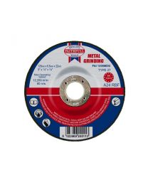 Metal Grinding Disc Depressed Centre 125 x 6.5 x 22mm 10 Pack