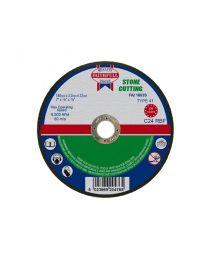 Stone Cutting Disc 125 x 3 x 22mm 10 Pack