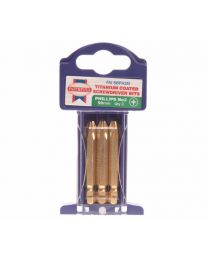 Phillips 3 Titanium Coated Screwdriver Bits x 50mm Pack of 3