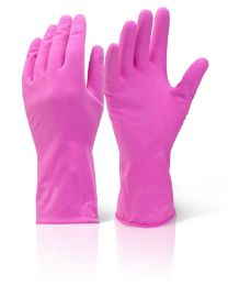 Mediumweight Pink Household Gloves