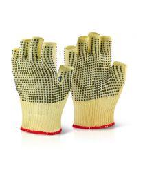 Kevlar Fingerless Dotted Gloves