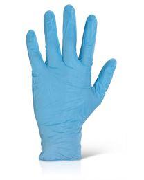 Blue Powder Free Nitrile Examination Gloves (Qty 1000)