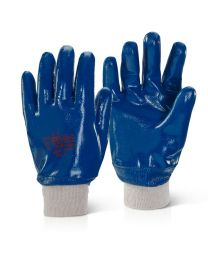 Nitrile Fully Coated Knitwrist Heavyweight Gloves