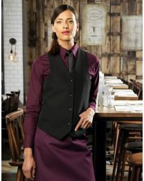 Premier Ladies Lined Polyester Waistcoat