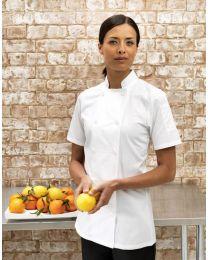 Premier Ladies Short Sleeved Chef's Jacket