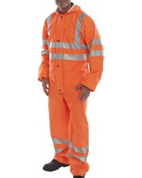 Orange Super B-Dri EN471 Coverall