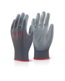 Grey PU Coated Gloves