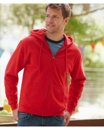 Fruit of the Loom Classic Zipped Hooded Sweat Jacket