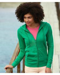 Fruit of the Loom Lady-Fit Lightweight Hooded Sweatshirt Jacket