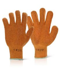 Orange Criss Cross Gloves